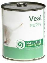 NATURE'S Protection - Puppy Veal - Високо качествена консера  за подрастващи  кучета до 1 година с говеждо месо - 0.400 кг.