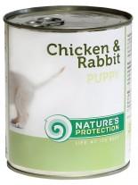 NATURE'S Protection - Puppy Chicken and Rabit - Високо качествена консера  за подрастващи  кучета до 1 година с пилешко и заешко месо - 0.200 кг.