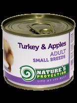 NATURE'S Protection - Adult Small Breeds Turkey & Apples - Високо качествена консера  за  кучета над 1 година с пуешко и ябълки - 0.200 кг.
