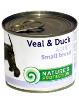 NATURE'S Protection - Adult Small Breeds Veal & Duck - Високо качествена консера  за  кучета над 1 година с говеждо и патешко - 0.400 кг.