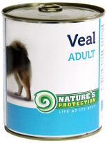 NATURE'S Protection - Adult Veal - Високо качествена консера  за  кучета над 1 година с говеждо - 0.800 кг.