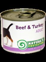 NATURE'S Protection - Adult Beef & Turkey - Високо качествена консера  за  кучета над 1 година с говеждо и пуйка - 0.200 кг.