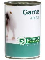 NATURE'S Protection - Adult Game - Високо качествена консера  за кучета над 1 година с дивеч - 0.400 кг.