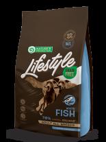 Nature's Protection LifeStyle Grain Free Dog - Adult All breeds White Fish with Krill - Супер премиум, високо качествена храна без зърно за  кучета над 12 месеца отвсички породи с бяла риба и крил - 1.5 кг.