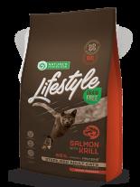 Nature's Protection LifeStyle Cat - Grain Free - Adult Sterilised - Salmon with Krill - Супер премиум, високо качествена храна без зърно за кастрирани котки над 12 месеца  със сьомга и крил  - 7 кг.