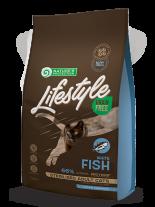Nature's Protection LifeStyle Cat - Grain Free - Adult Sterilised - White Fish - Супер премиум, високо качествена храна без зърно за кастрирани котки над 12 месеца  с бяла риба  - 7 кг.