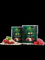 Nuevo Super Premium food for Dogs SENIOR- Lamb & Beef - Високо качествена консерва за кучета над 7 година с агнешко и говеждо месо и овесени ядки  - 0.400 кг.