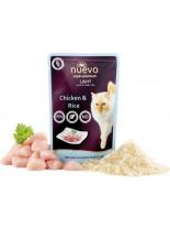 Nuevo Super Premium Cat - Chicken Light - Супер премиум пауч за котки над 1 година склонни към напълняване с пилешко месо и ориз - 85 гр.