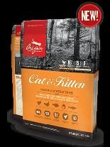 Orijen Cat & Kitten New Formula - пълноценна храна без зърнени съставки, както за малки котенца, така и за кърмещи котки - 5.4 кг.