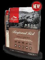 Orijen Regional Red  Cat - пълноценна храна без зърнени съставки, с  прясно, червено месо от бизон, глиган, агнешко и др. - за котки над 1 година - 5.4 кг.