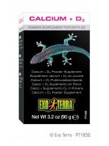 Exo Terra - Calcium + D3 Puder - калций с витамин D на прах за влечуги - 90 гр.