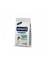 Advance Dog Puppy Sensitive - за подрастващи кучета с чувствителен стомах и козина от 1 до 12 месеца - 12 кг.